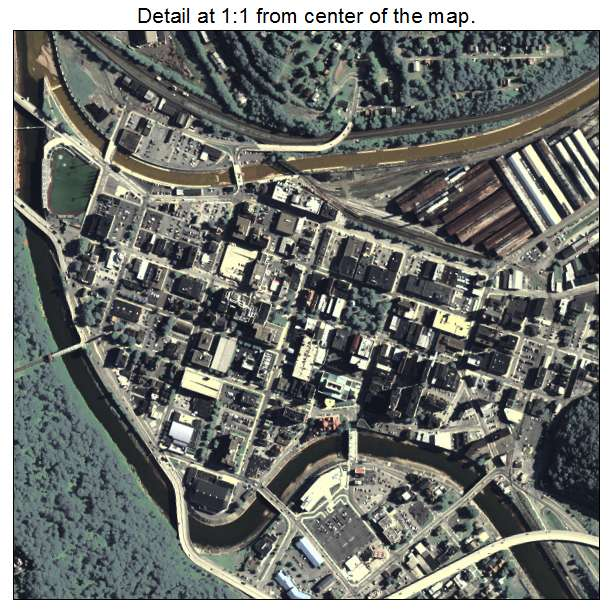 Johnstown, Pennsylvania aerial imagery detail