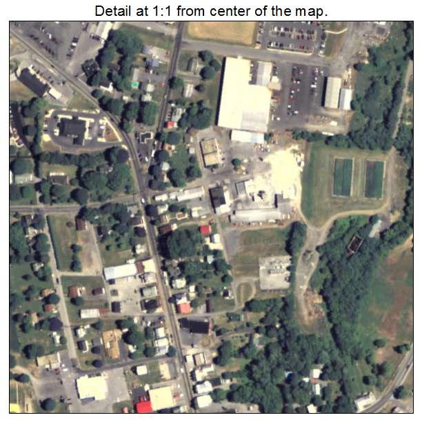 aerial photography map of mercersburg  pa pennsylvania