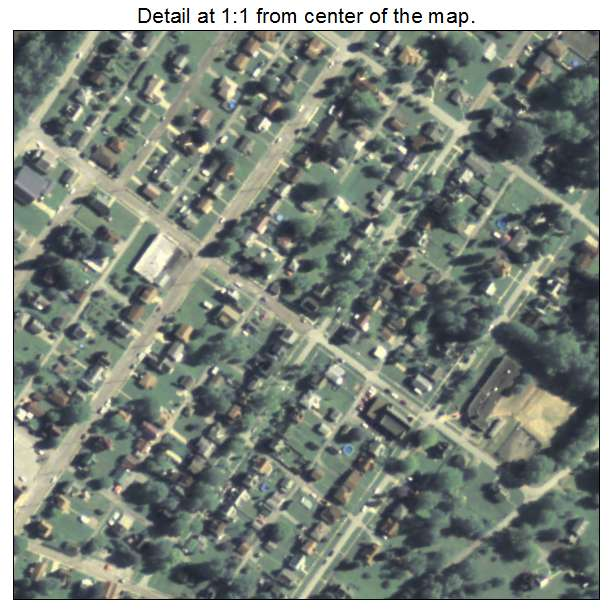 North Apollo, Pennsylvania aerial imagery detail