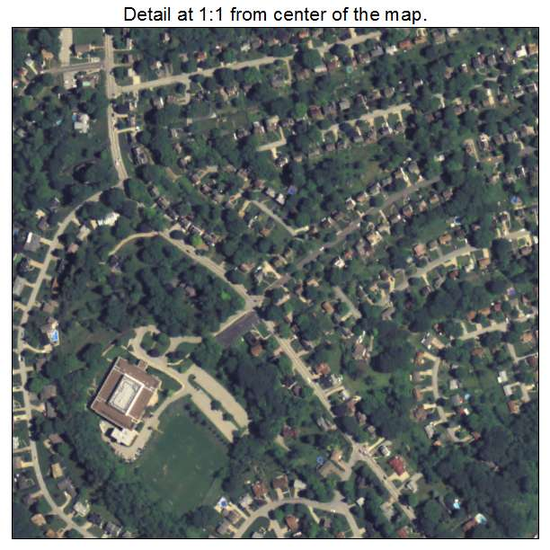 aerial photography map of pleasant hills  pa pennsylvania