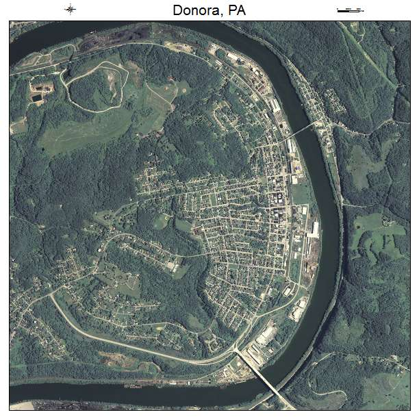 Donora, PA air photo map