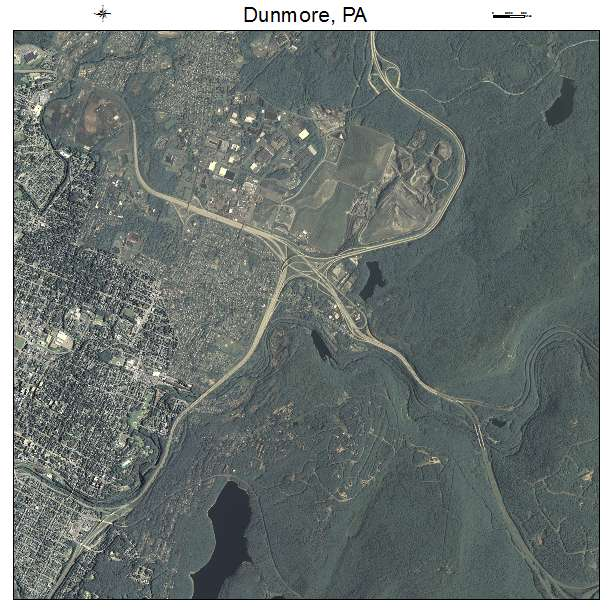 Dunmore Pennsylvania: Aerial Photography Map Of Dunmore, PA Pennsylvania
