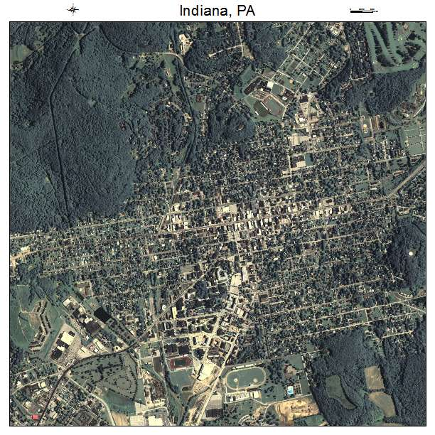 Aerial Photography Map Of Indiana PA Pennsylvania