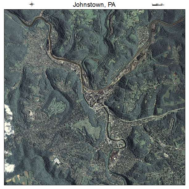 Johnstown, PA air photo map