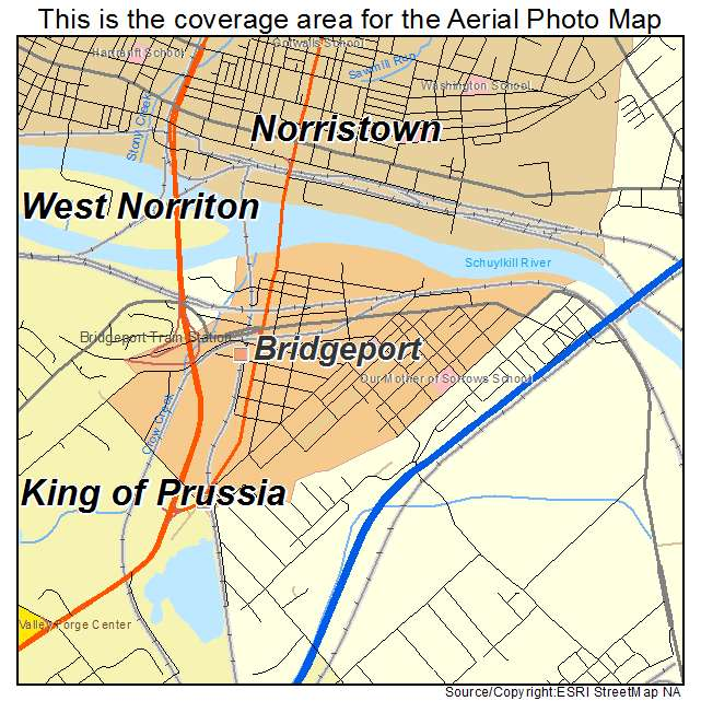 Aerial Photography Map Of Bridgeport PA Pennsylvania