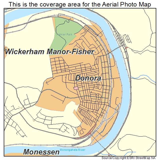 Donora, PA location map