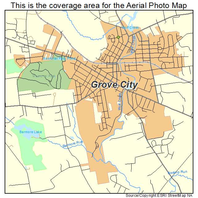 Map Of Grove City Pa And Surrounding Areas Aerial Photography Map of Grove City, PA Pennsylvania