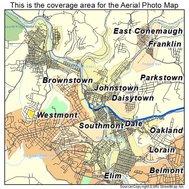 Johnstown, PA location map