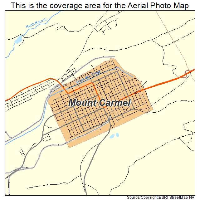 Mount Carmel, PA location map