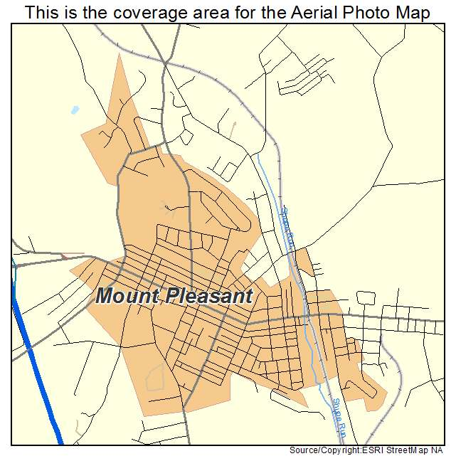 Aerial Photography Map of Mount Pleasant PA Pennsylvania