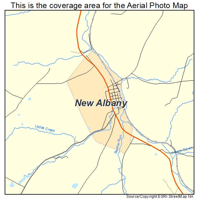 New Albany, PA location map