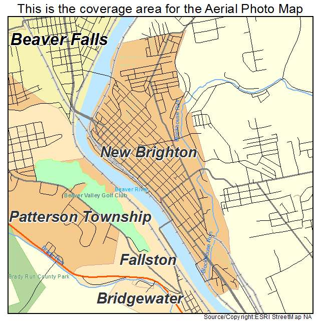 New Brighton, PA location map