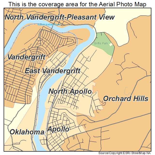 North Apollo, PA location map