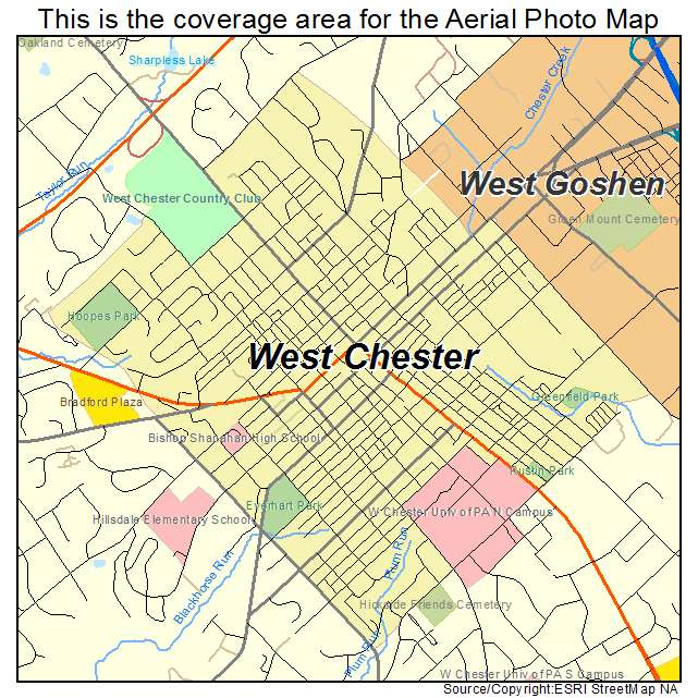 West Chester Pa Map West Chester Pa Map | compressportnederland West Chester Pa Map