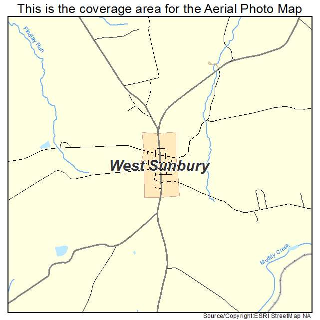 Aerial Photography Map of West Sunbury PA Pennsylvania