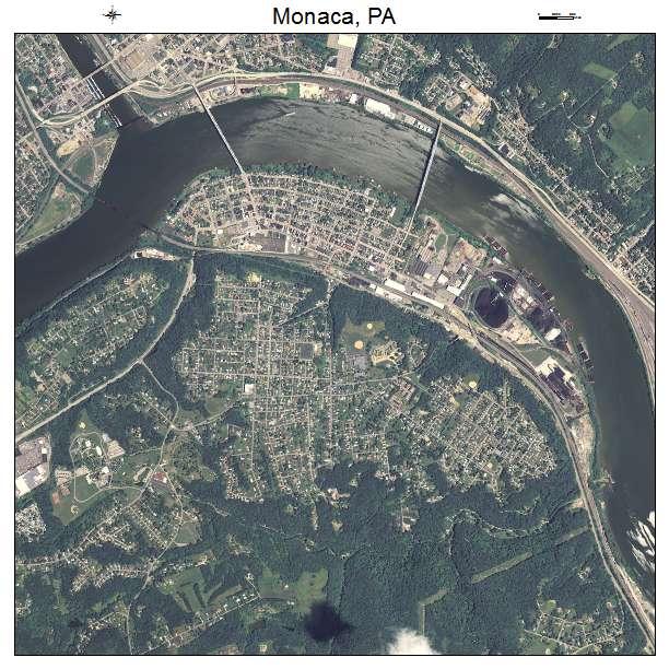 aerial photography map of monaca  pa pennsylvania