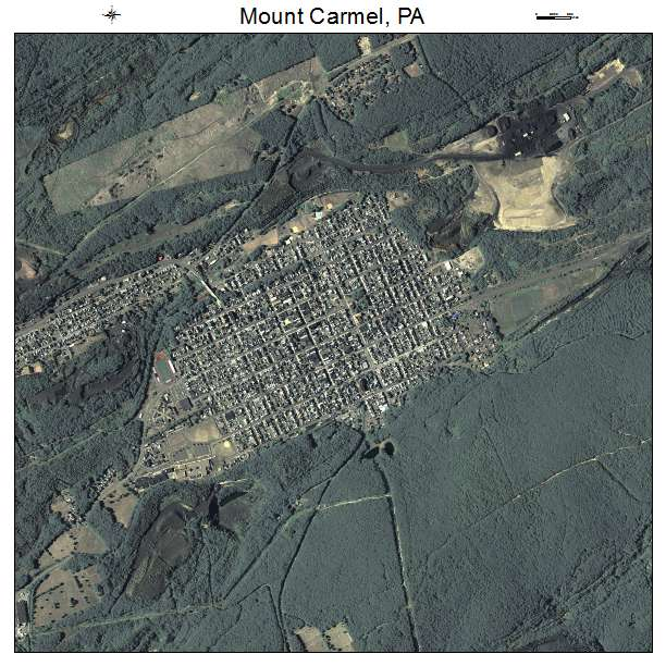 Mount Carmel, PA air photo map