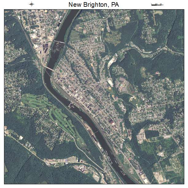 New Brighton, PA air photo map