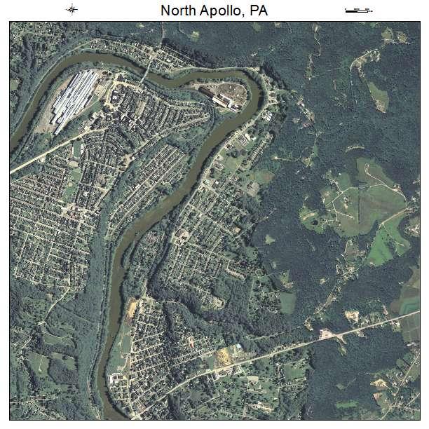 North Apollo, PA air photo map