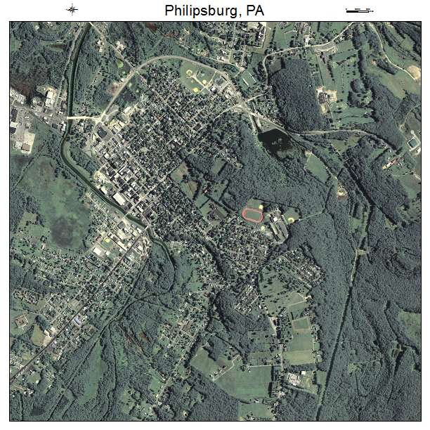 Philipsburg Ny: Aerial Photography Map Of Philipsburg, PA Pennsylvania