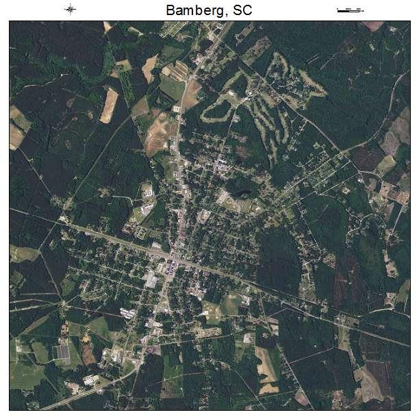 Bamberg, SC air photo map