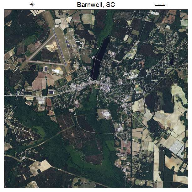 Barnwell, SC air photo map