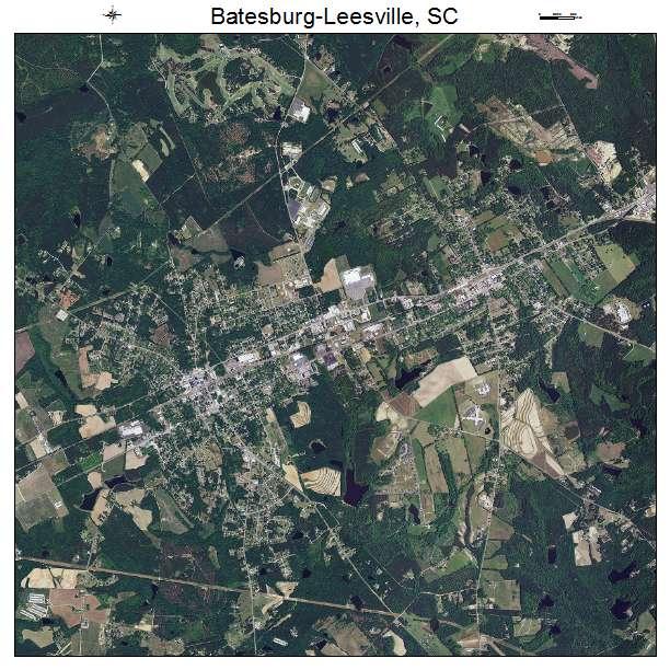Batesburg Leesville, SC air photo map