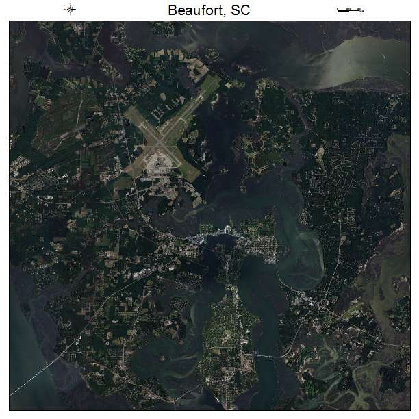 Beaufort, SC air photo map