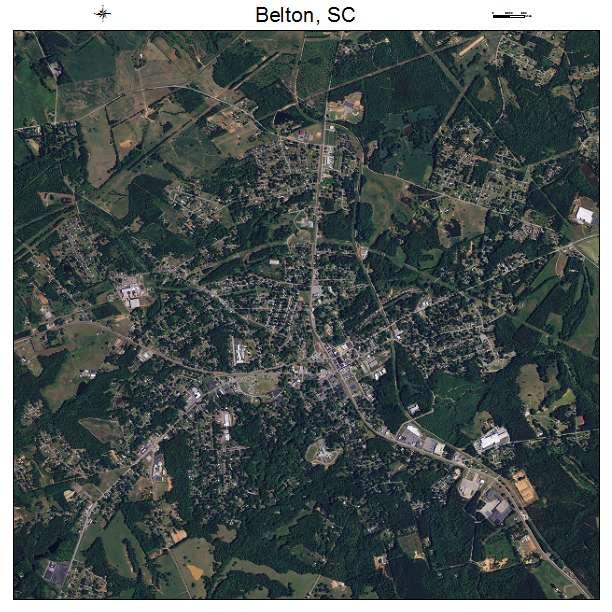 Belton, SC air photo map