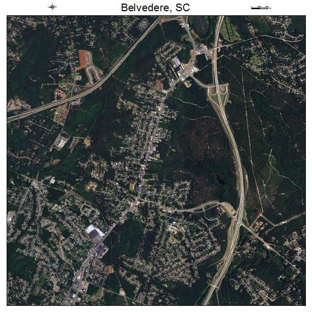 Belvedere, SC air photo map