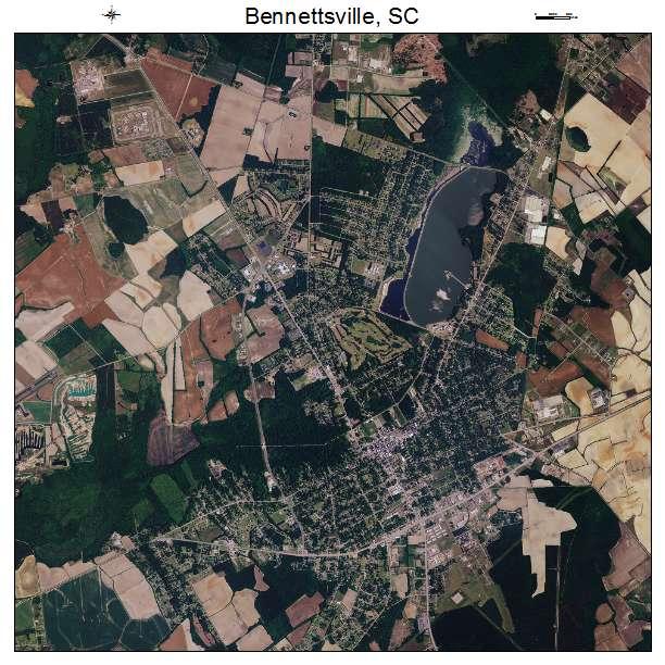 Bennettsville, SC air photo map
