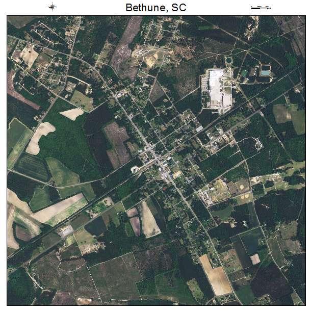 Bethune, SC air photo map