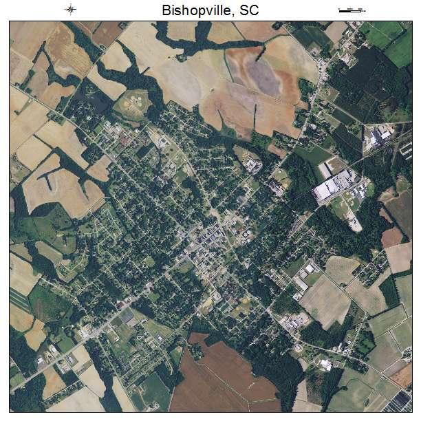 Bishopville, SC air photo map