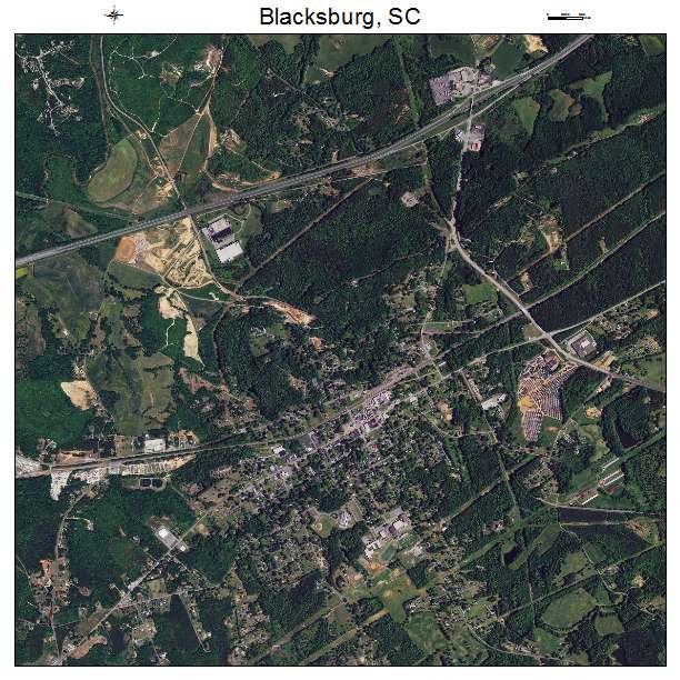 Blacksburg, SC air photo map