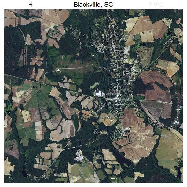 Blackville, SC air photo map