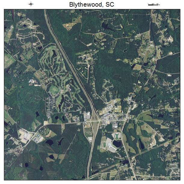 Blythewood, SC air photo map