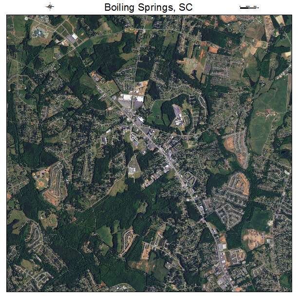 Boiling Springs, SC air photo map