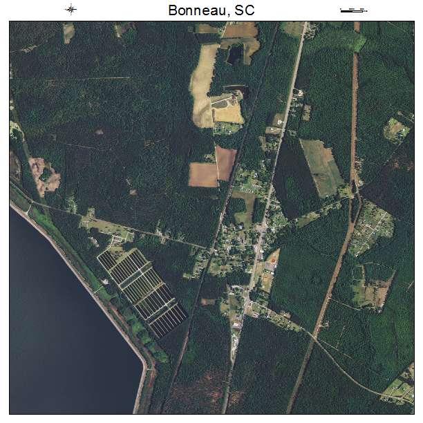 Bonneau, SC air photo map