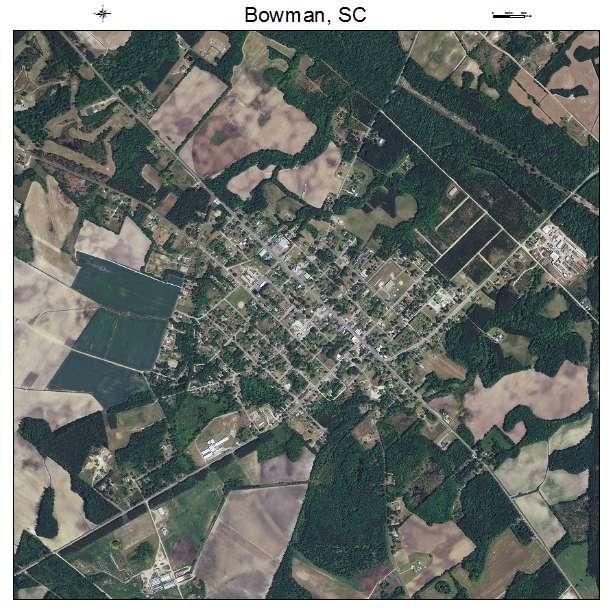 Bowman, SC air photo map