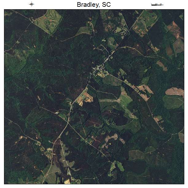 Bradley, SC air photo map