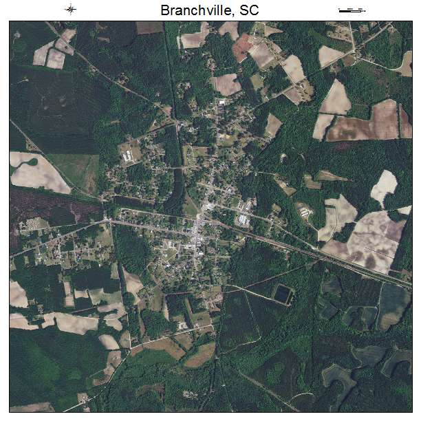 Branchville, SC air photo map