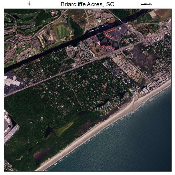 Briarcliffe Acres, SC air photo map