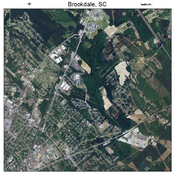 Brookdale, SC air photo map