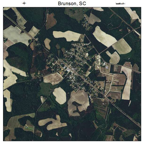 Brunson, SC air photo map