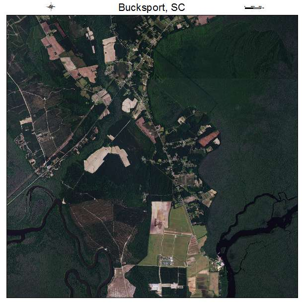 Bucksport, SC air photo map