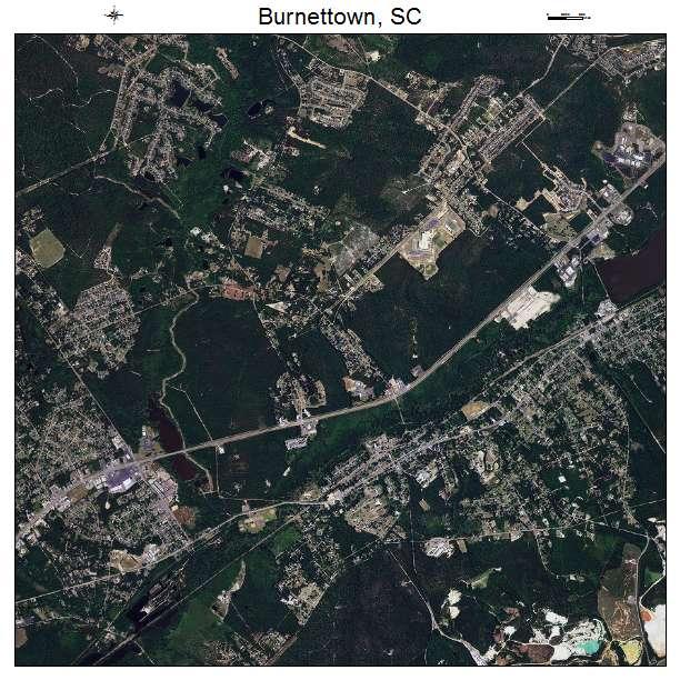 Burnettown, SC air photo map