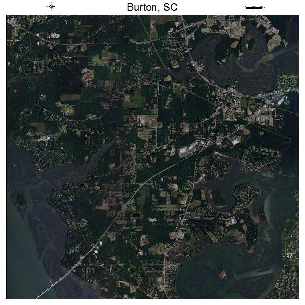 Burton, SC air photo map