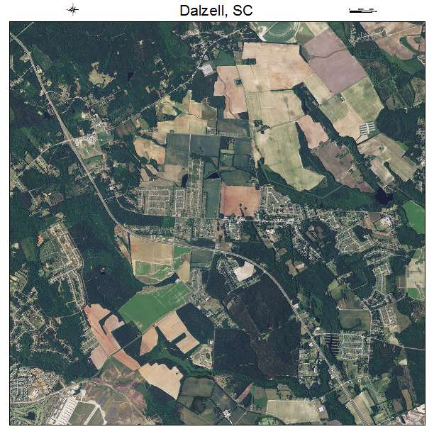 Dalzell, SC air photo map