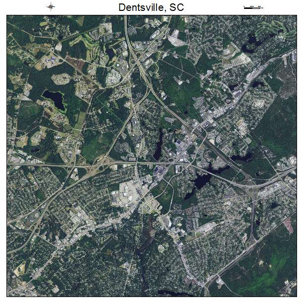 Dentsville, SC air photo map