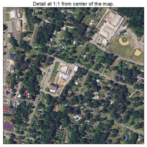 Bamberg, South Carolina aerial imagery detail